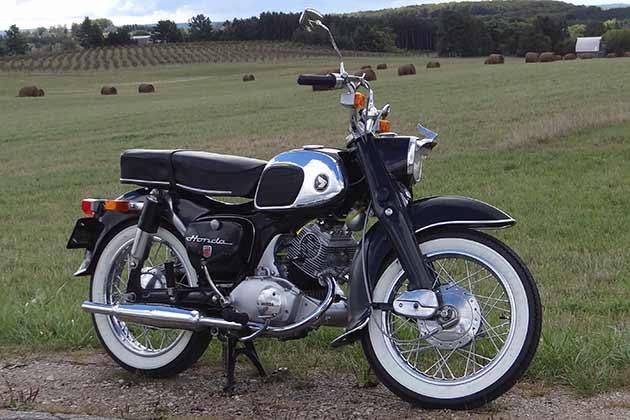 Honda CA95 Benly Touring 1965 veteran motorcykel USA-importen.